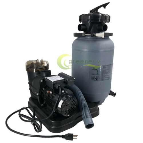 """1200GPH 10"""" Sand Filter Above Ground 0.35HP Swimming Pool Pump intex compatible"""