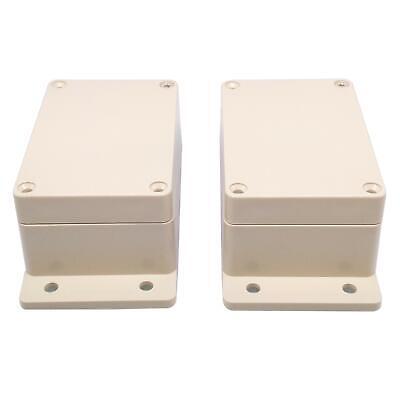 Us Stock 2pcs Plastic Project Box Electronic Enclosure Case Diy 50 X 68 X 100mm