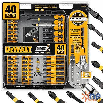 Magnetic Set - Magnetic Screwdriver Bit Set 40 Piece Dewalt Impact Drill Driver Bits Screw Lock