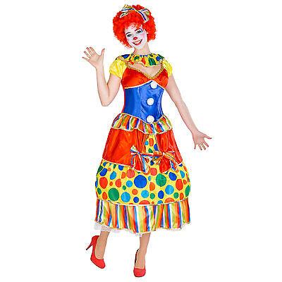 Frauenkostüm Clown Clownfrau Clownkostüm Harlekin Fasching Karneval Kostüm Frau
