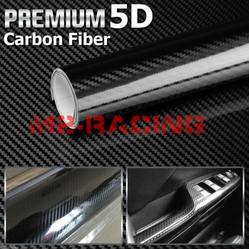 Style:5D (Basic):3D 4D 5D 7D Forged Matte Gloss Semi Black Carbon Fiber Vinyl Wrap Sticker