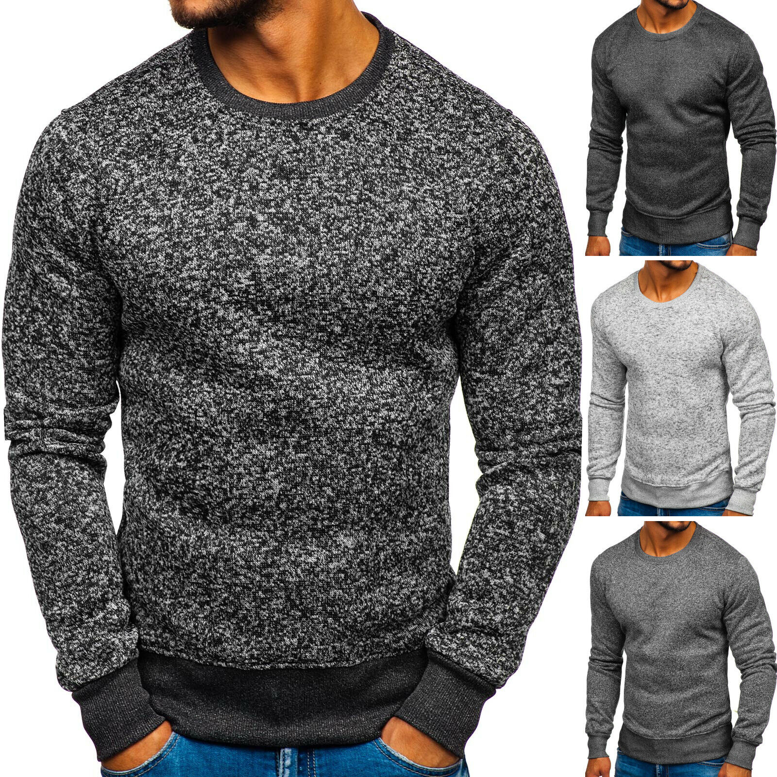 Sweatshirt Langarmshirt Pullover Pulli Rundhals Men Herren Mix BOLF 1A1 Classic