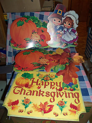 Older Thanksgiving Autumn Decorations Eureka Double Sided Happy Thanksgiving