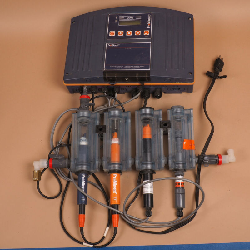 ProMinent DCM5 DCM 503 Aquatic Water Quality  Chemistry Controller w Sensors