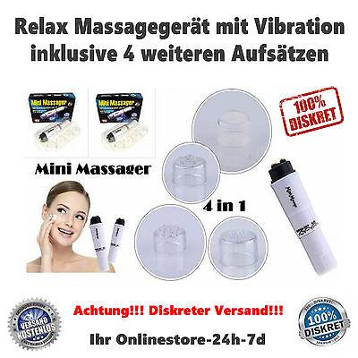 Mini Massager Massagegerät Hand Beauty-Pen Full Body Massage Vibration 5in1 NEU