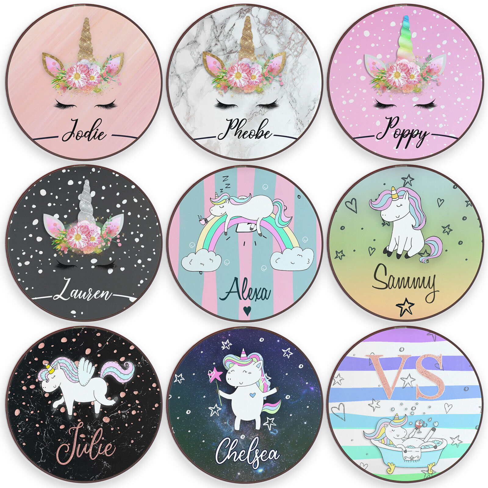 Unicorn QI Wireless Charger For Apple iPhone 11/XS/8 Persona
