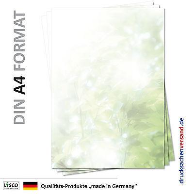 100 Blatt Motivpapier-5115 DIN A4 Briefpapier grün Blätterwald Bäume Laub Sonne