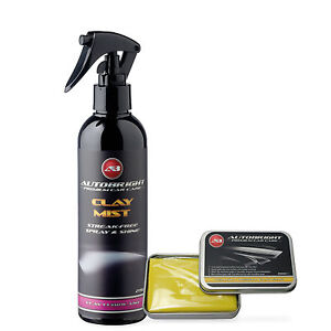 Autobright Detailing Yellow Clay Bar Kit 100g And Car Cleaning 250ml Clay Mist