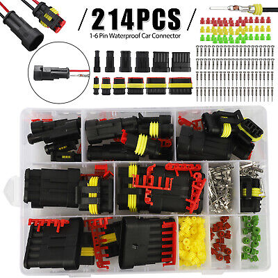 123456 Pin Car Trucks Sealed Waterproof Electrical Wire Connector Plug Kit