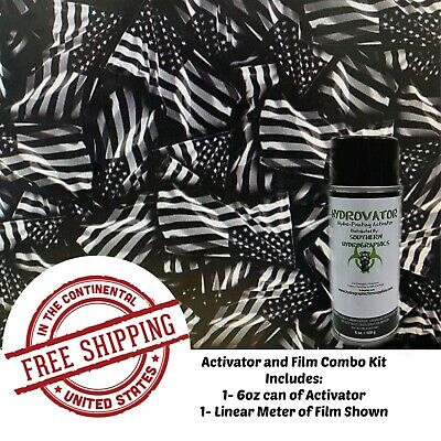 Hydrographic Water Transfer Film Hydro Dip Kit Activator Film American Flag 4