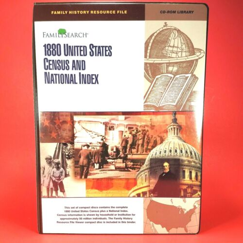 1880 United States Census & National Index CD ROM Library Geneological Research
