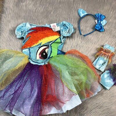 My Little Pony Toddler Girls 3-4T Rainbow Dash Costume Glitter Sparkle Tulle