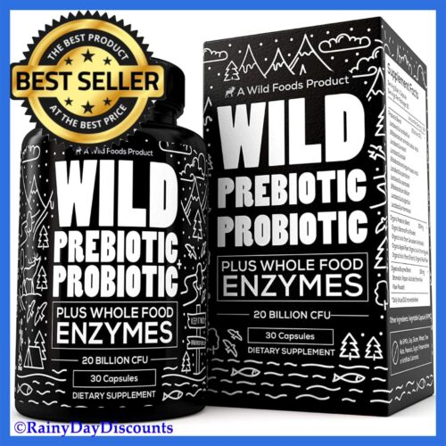 Prebiotic + Probiotic Digestive Enzyme Supplement For Gas, B