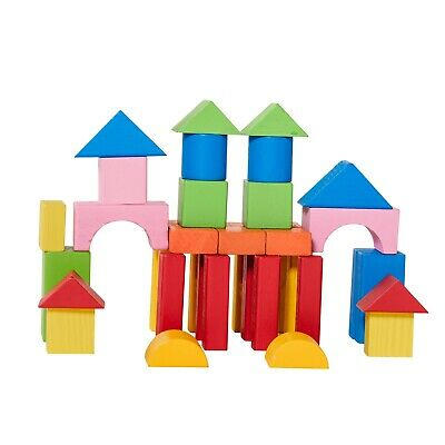 Eliiti Wooden Building Blocks Set Toy for Toddlers Kids 3 to 6 Years Old, 40 Pcs