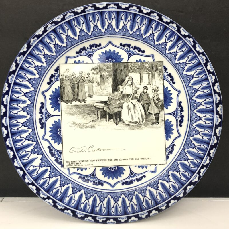 Antique Royal Doulton Nunn Children Blue Plate