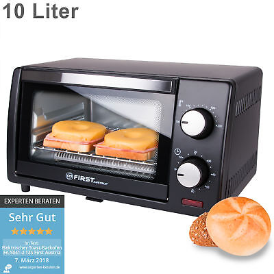 Minibackofen Toastofen Ofen Backofen 10L Brötchenofen kleiner Mini