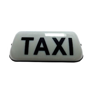 36cm Taxi Roof Sign Aerodynamic Magnetic Taximeter Cab Top Lamp 12V White Light