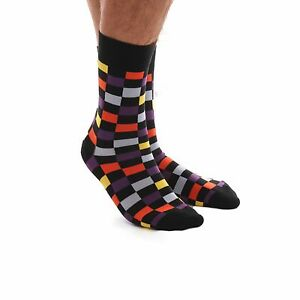 Amedeo-Exclusive-New-Dress-Socks-Multi-Coloured-Check-Combed-Cotton-Aeso32