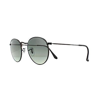 Ray-Ban Sunglasses Round Flat Lenses 3447N 002/71 Black Grey Gradient 50mm