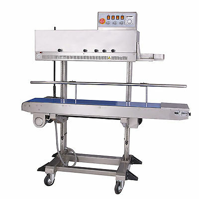 Entrepack Stainless Steel 2300v Vertical Continuous Band Sealer Ink Printer