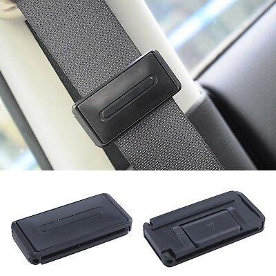 1 Pair Car Seat Belt Stopper Buckle Improves Comfort Safety Adjuster Clips