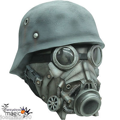 Deluxe Latex Overhead Chemical Warfare Scary Horror Halloween Costume Gas Mask - Scary Halloween Gas Mask