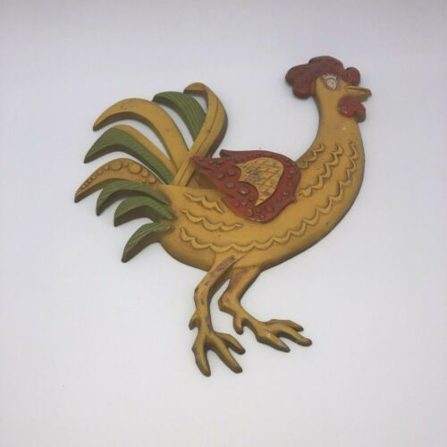 Vintage Sexton Rooster  Multi Colored 1969 - 15 inches tall