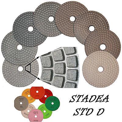 Stadea 4 Diamond Polishing Pad For Wet Polisher Stone Polish Grinding Grit 50