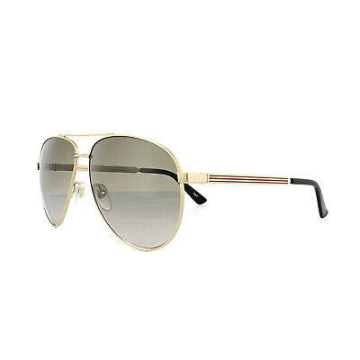 Gucci Sunglasses 0137S 001 Gold Brown Gradient