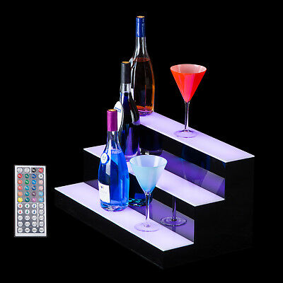 24 3 Led Liquor Bottle Display Shelf Wine Rack Bar Supply Stand Wireless Remote