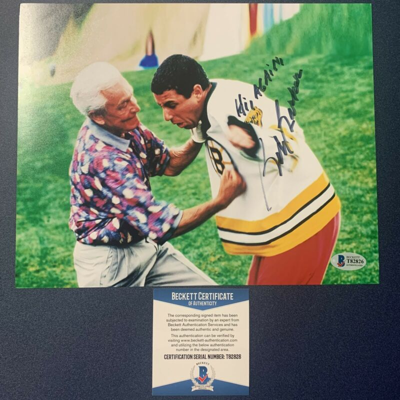 BOB BARKER SIGNED 8x10 PHOTO ACTOR TV HOST AUTOGRAPHED HAPPY GILMORE BAS COA