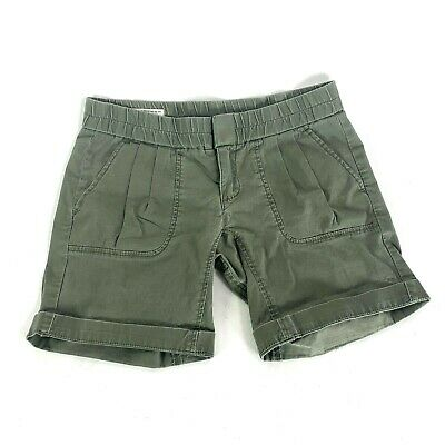 Hurley Lowrider Green Cotton Shorts Elastic Waist Womens Juniors Size -