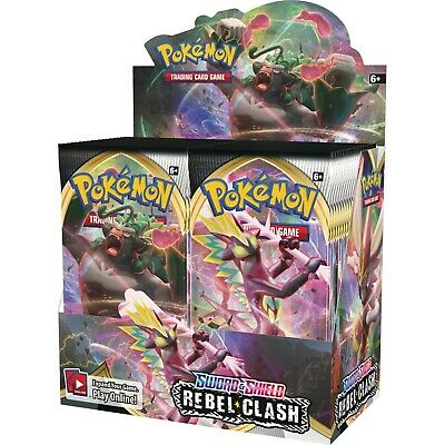 Sword and Shield Rebel Clash BOOSTER BOX 36 ct Pokemon TCG NEW/SEALED SHIPS 5/1!