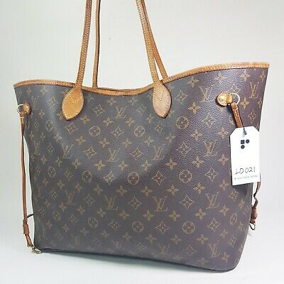 Authentic Louis Vuitton Neverfull GM Monogram M40157 Adjust Strap Broken LD021