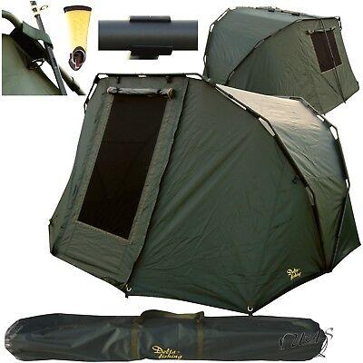 Delta Fishing 2 Man Bivvy Angel Zelt 270X265X150CM Karpfenzelt Carp Dome Sha