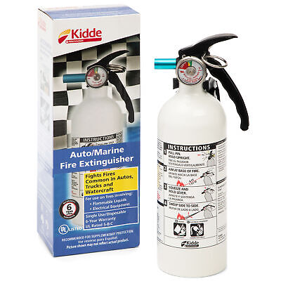 Kidde Marine Fire Extinguisher 5-bc 3-lb Car Boat Home Office Not Ship To Mi