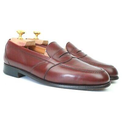 J.M. Weston Vintage Burgundy Leather Loafers 7.5 D UK 8