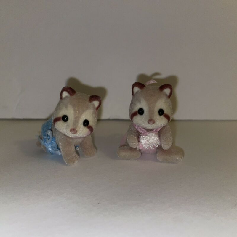 Calico critters (sylvanian families) Mulberry Raccoon Baby Twins