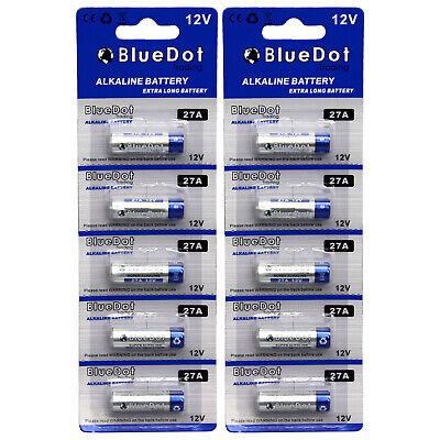 10 Pcs 27A 12V MN27/MS27 GP27A V27GA L828 A27 Alkaline BlueD