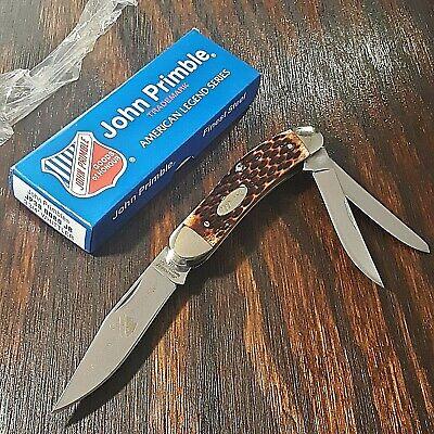 JOHN PRIMBLE KNIFE KNIVES JP30 0080 WHITTLER 3 BLADE BOVINE BONE FOLDING POCKET