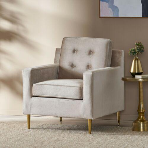 Taylea Modern Glam Tufted Velvet Club Chair Chairs