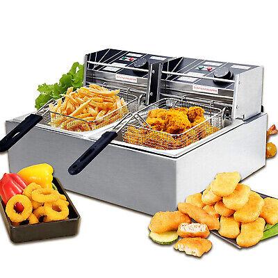 1800w 16l Commercial Electric Deep Fryer French Fry Bar Restaurant Tank Wbasket