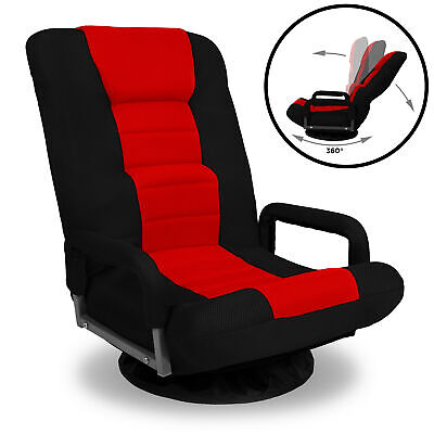 BCP 360-Degree Swivel Gaming Floor Chair w/ Armrest Handles,