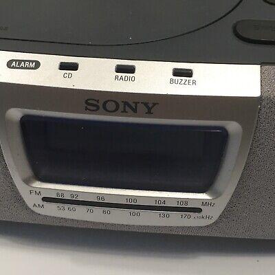 Sony Dream Machine Alarm Clock Radio CD Player (ICF-CD830) TESTED WORKS