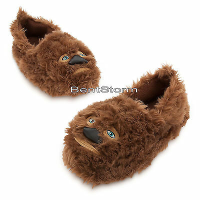 Star Wars Chewbacca Wookie Chewie SLIPPERS Plush ADULT House Shoes Disney Store  - Adult Star Wars Shoes