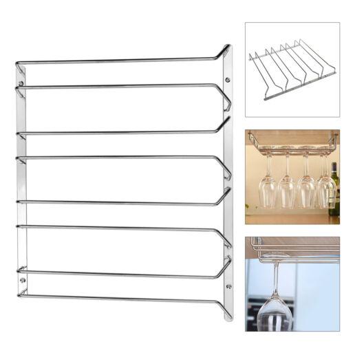 4 row stemware glasses under cabinet shelf wine storage. Black Bedroom Furniture Sets. Home Design Ideas
