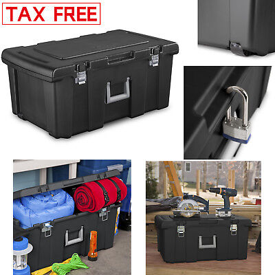 Large Plastic Storage Box Containers Wheeled Gear Portable Organizer Stackable (Stackable Containers)