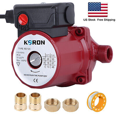 Hot Water Circulation Pump 115v Circulating Pump Npt 34 Circulator Pump 93w