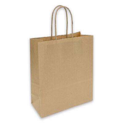 Geschenktüte Papiertüte Tasche mit Kordel Griff Kraftpapier braun 90g 18x8x22cm ()