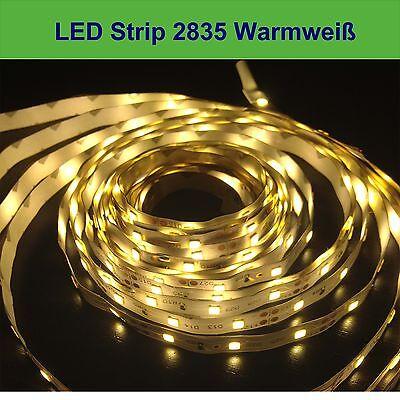 LED Stripe Streifen High Power 2835 warmweiß 5M 300 LEDs IP65 Lichtkette NEU
